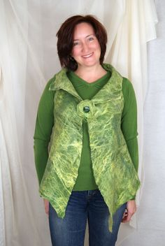 Rustic felted vest