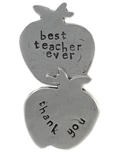 Crosby & Taylor - pewter token - Best Teacher Ever