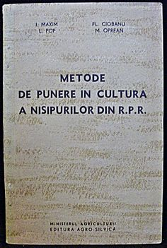 Metode De Punere In Cultura A Nisipurilor Din R. P. R. Personalized Items