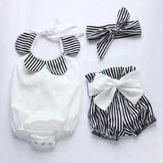 3pcs baby Corp super cute baby girl onesies