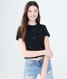 35a2885e Faux Pearl Tee Shirts For Teens, Discount Clothing, Aeropostale, Cute Shirts,  Trendy