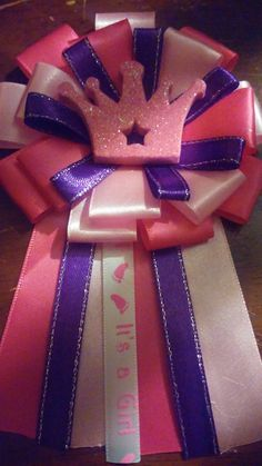 princess theme baby shower mom to be corsage