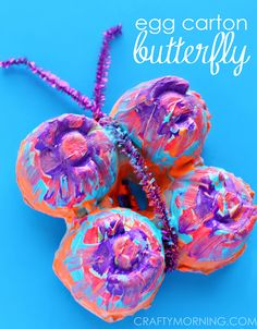 Colorful Egg Carton Butterfly - Craft for Kids