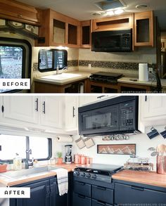 ideas modern camper remodel rv makeover for 2019 Camping Diy, Camping Cooking, Luxury Camping, Camping Outdoors, Camping Gear, Camping Hacks, Outdoor Camping, Rv Redo, Diy Camper