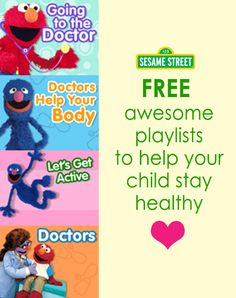 Help your child learn how to stay healthy. These videos will help your child understand that doctor visits are not scary but actually helpful. The little one will also learn that being active keeps you strong and happy. To watch: http://www.sesamestreet.org/parents/topicsandactivities/toolkits/asthma#3