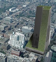 SkyFarm [Toronto] 714 foot structure in downtown Toronto, Canada is a superb example of how living walls and vertical gardens can actually be profitable as well as beautiful. Sustainable Architecture, Sustainable Design, Agriculture Verticale, Green Tower, Vertical Farming, Vertical Gardens, Living Roofs, Living Walls, City Farm