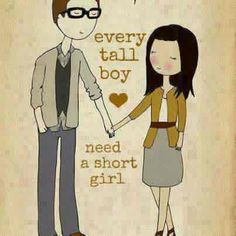 Short Quotes For Couples   short girl # opposite attracts # cute couple # perfect couple