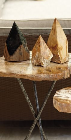 Embellish an outdoor table or mantelpiece, or create points of interest throughout the garden with our Petrified Wood Points.