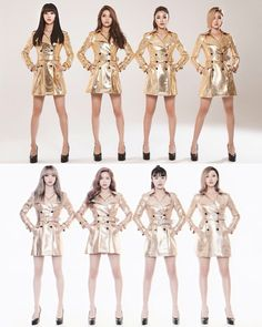 Mamamoo (마마무) 2015 x 2017. I love that they redid this pics in 2017