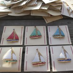 Hand-painted 1930s Yacht Badges - Pedlars Friday Vintage