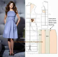 Ideas for fashion diy clothes dress patterns simple Sewing Dress, Diy Dress, Sewing Clothes, Sewing Patterns Free, Clothing Patterns, Dress Patterns, Pattern Dress, Fashion Sewing, Diy Fashion
