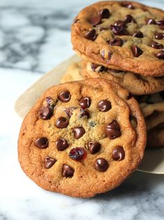 Whole Wheat Cranberry Ginger Chocolate Chip Cookies