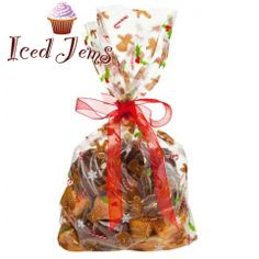 £1 Gingerbread Man Cello Bags, Pack of 10