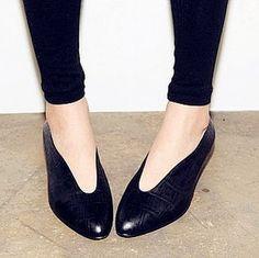 RMB 65 欧美小黑鞋中跟舒适女鞋豆豆鞋单鞋 女 孕妇鞋护士鞋妈妈鞋-淘宝网