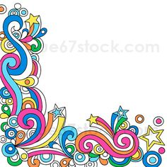 Psychedelic Abstract Star Notebook Doodle Vector Illustration by blue67 by blue67design, via Flickr