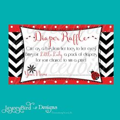Diy Boots And Bling Diaper Raffle Ticket Card By Jayceybirddesigns