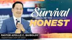 'The Survival of the Honest' by Pastor Apollo C. Spiritual Enlightenment, Spirituality, Investiture Ceremony, Kingdom Of Heaven, Son Of God, New Names, The Covenant, Apollo, Worship