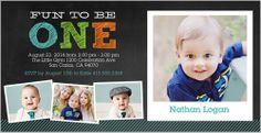 One In Chalk Boy 4x8 Stationery Card by Yours Truly   Shutterfly