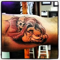 lion king tattoo...... This is sweet