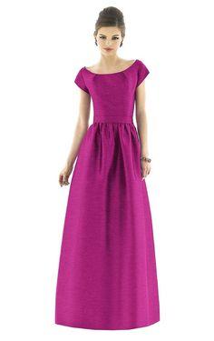 A-line Scoop Smart Natural Waist Bridesmaid Dress