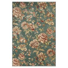 Cherish the Flower Green/Ivory 3 ft. 3 in. x 4 ft. 7 in. Area Rug