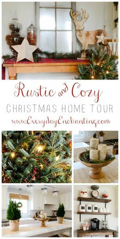 Christmas Home Tour 2014 | Rustic & Cozy