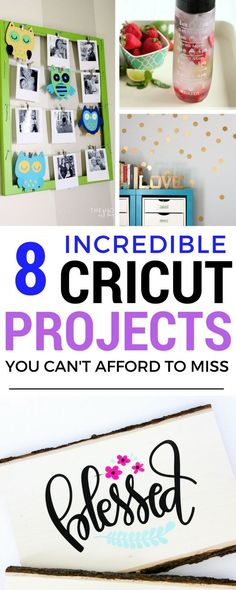 Cricut Projects | Cricut Projects For Beginners - Great diys that you can do such as polka dot wall or a hand written sign and more.