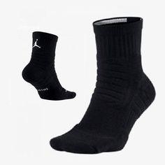 Nike Mens Jordan Jumpman Advance DriFIT High Quarter Black Socks L XL SX5246-016 #Nike #Athletic Nike Michael Jordan, Black Socks, Jordans For Men, Nike Men, Wedges, Athletic, Boots, Accessories, Fashion