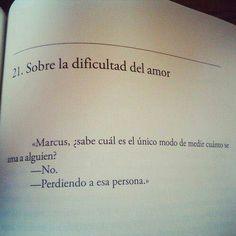 La dificultad del amor