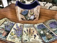 Decoupage Art, Glass Coasters, Clay Projects, Vintage Wood, Mixed Media Art, Wedding Favors, Crafts, Country, Home Decor