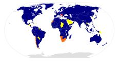 Tito's funeral - this map shows all the countries that sent their people to pay respects