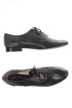 Chaussures Derby PETITE MENDIGOTE - couleur NOIR - matiere Cuir