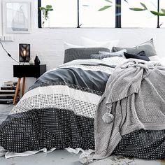 Hexagon Stripe Quilt Cover Set   Target Australia