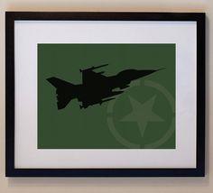 Children's Fighter Jet 8 x 10 nursery print wall by smittenimage