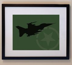 Children's Fighter Jet 8 x 10 nursery print wall by smittenimage