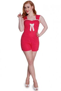 Hell Bunny Delfine Playsuit Red