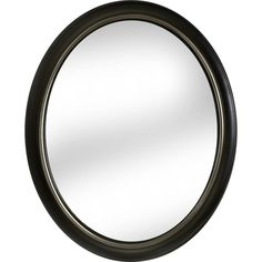 Shop allen + roth Oil Rubbed Bronze Oval Framed Wall Mirror at Lowes.com