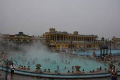 """Thermal Baths: We all go on vacation to have a little me time. So why not sit back, relax and enjoy the world's largest outdoor """"hot tub""""? European Destination, Sit Back, Hungary, Vienna, Budapest, No Time For Me, To Go, Louvre, Wanderlust"""