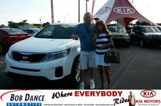 Congratulations to Terry Mann on your #Kia #Sorento purchase from Terry Ingold at Bob Dance KIA! #NewCar