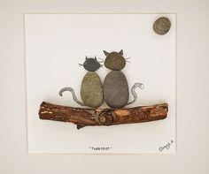 Irische Pebble Kunst / individuell gerahmt Bild