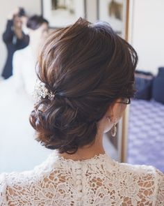 Evening Hairstyles, Party Hairstyles, Bride Hairstyles, Asian Bridal Hair, Bridal Updo, Wedding Hair And Makeup, Hair Makeup, Hair Arrange, Weeding Dress