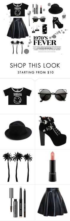 Rock star by unicorntommo on Polyvore featuring мода, MSGM, Jeffrey Campbell, Eugenia Kim, Casetify, Bobbi Brown Cosmetics, MAC Cosmetics and Dot & Bo
