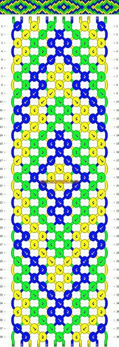 Normal Friendship Bracelet Pattern #8864 - BraceletBook.com