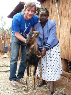 Terénny pracovník organizácie Človek v Ohrození, Lukáš Zorád v Keni