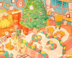 冬の夜 ■ カナヘイの家