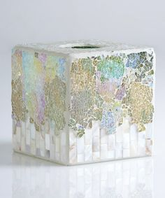 Loving this Crushed Mosaic Tissue Box Cover on #zulily! #zulilyfinds