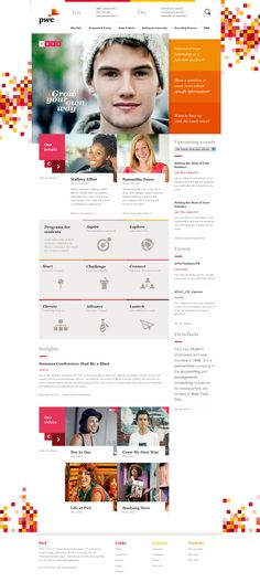 """PwC - PricewaterhouseCoopers - Shape Layer - Portfolio of Bryan Le"" Page Layout Design, Web Layout, Website Design Inspiration, Design Ideas, Well Designed Websites, Mise En Page Web, Website Layout, Website Web, Ui Web"