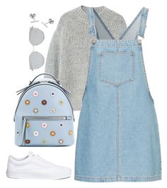 """""""Untitled #4743"""" by magsmccray on Polyvore featuring MANGO, Fendi, Vans, Gentle Monster and Myia Bonner"""