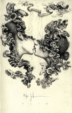 Illustration by Miles Johnston Sketches, Ink Art, Surreal Art, Art Drawings, Drawings, Figure Drawing, Illustration Art, Art, Art Reference
