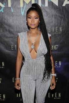 Best Celebrity Braids 2017 Nicki Minaj - Best Celebrity Braids Of 2017 (So Far) Box Braids Hairstyles, Classy Hairstyles, Black Girls Hairstyles, African Hairstyles, Celebrity Hairstyles, Beautiful Hairstyles, Hairstyles 2016, Modern Hairstyles, Updo Hairstyle